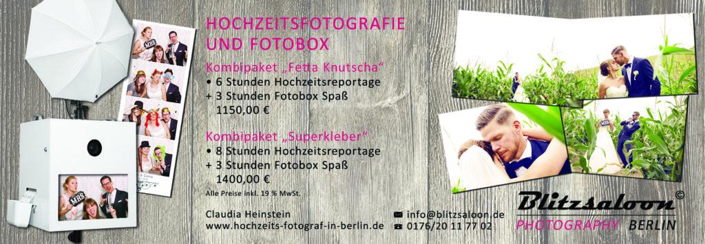 Kombi Angebot - Hochzeitsfotograf und Fotobox